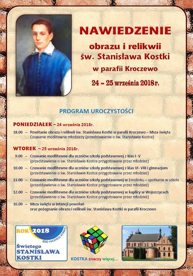 Nawiedzenie obrazu i relikwii św. Stanisława Kostki